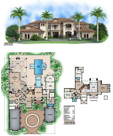 Mediterranean House Plan Luxury Tuscan Home Floor Plan Mediterranean House Plans House Plans Mansion Mansion Floor Plan