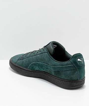 PUMA Suede Classic Green & Black Weatherproof Shoes | Shoes ...