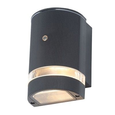 Forum Helios Outdoor Wall Light With Dusk To Dawn Sensor Black