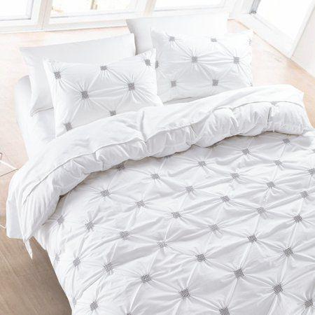 California Design Den Diamond Pintuck Duvet Cover Set Cotton White King 3 Piece Walmart Com Pintuck Duvet Cover Duvet Cover Sets Pintuck Duvet