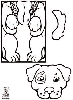 Dog Paper Bag Puppet Paper Bag Puppets Puppy Coloring Pages