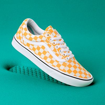 Checker Comfycush Old Skool Shoes | Yellow | Vans | Orange ...
