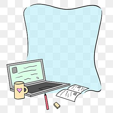 Cartoon Learning Tools Computer Frame Hand Drawn Illustration Beautiful Border Fresh Border Png Transparent Clipart Image And Psd File For Free Download Frame Border Design How To Draw Hands Frame Clipart