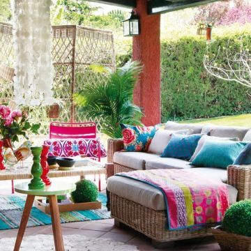 Colorful Outdoor Rooms Bohemian Patio Outdoor Rooms Home Garden