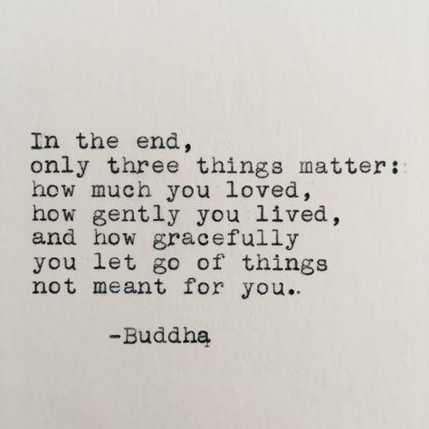Buddha Life Quote Typed on Typewriter | Etsy