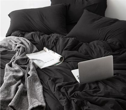 Must Have College Bedding Black Extra Long Twin Sheets One Of A