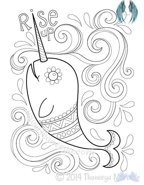 Narwhal Coloring Page From Hipster Coloring Book Br Designs Coloring Books Coloring Books Cute Coloring Pages