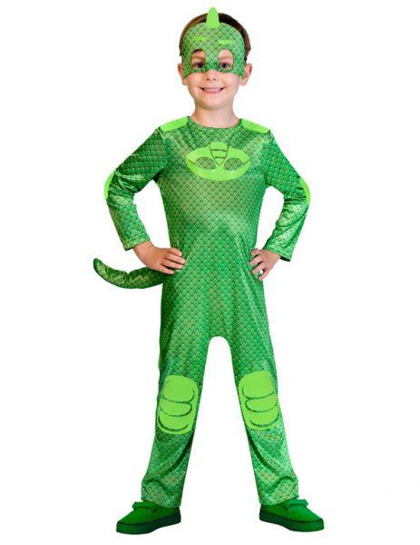 Gekko PJ Masks Costume Boys Pyjama  Superhero Fancy Dress Outift Childs License