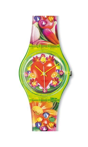 Swatch Family Standard Gents Design Year 1995 Condition A- Edition Designed by Micha Klein, the Dutch digital artist