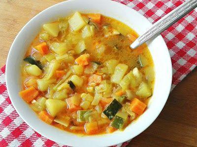 Sopa Casera De Verduras Sopa De Verduras Verduras Guiso De Verduras