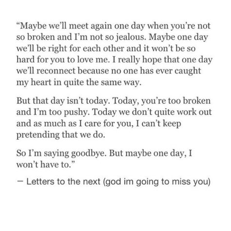 maybe one day i won't have to say goodbye