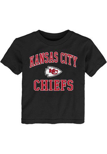 best service 0e5b7 cd9ba Kansas City Chiefs Toddler Black #1 Design Short Sleeve T ...