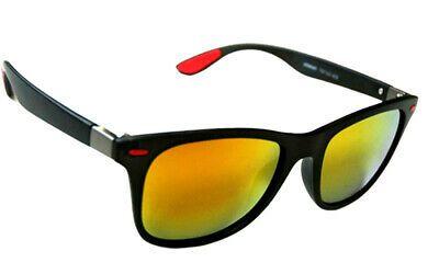 Mens Dark Wrap Around Designer Sports Biker Ski Fishing Black Sunglasses Eyewear
