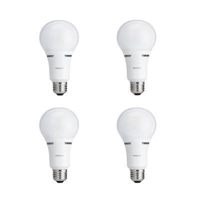 Philips 40 Watt 60 Watt 100 Watt Equivalent A21 Energy Saving 3 Way Led Light Bulb Soft White 2700k 4 Pack Light Bulb Dimmable Led Lights Bulb