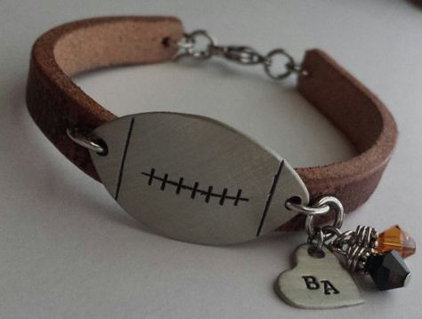 JBK Football or Baseball mom bracelet by jewelrybykaren2 on Etsy, $32.00