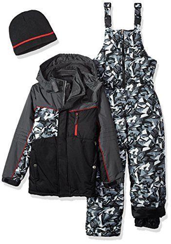 BLACK iXtreme Little Boys/' Camo Print Winter Snow Vest