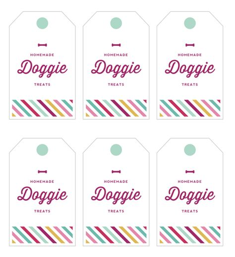 Cookie + Gift Tag: Homemade Dog Treats and Tags for Gifting — Printables from The Kitchn