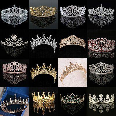 Wedding Bridal Women Prom Pageant Birthday Hair Tiara Crown Princess Headband