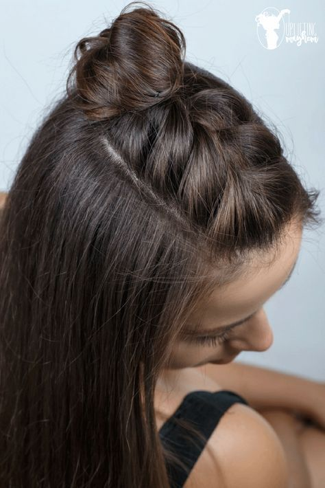 Super Cute Easy Half Braid Tutorial Freshen Up Your Look With This Adorable Half Braided Hairstyles Tutorials Braided Hairstyles Easy Half Braided Hairstyles