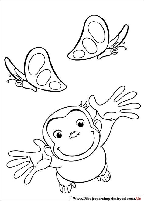 Curious George coloring picture Coloring and Activities - copy coloring pages of tiger face