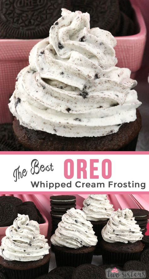 The Best Oreo Whipped Cream Frosting