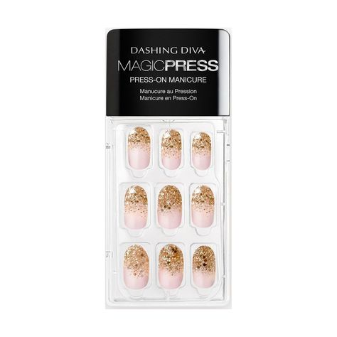 Shop for Dashing Diva Magic Press on Nails Golden Radiance from Dashing Diva at Sally Beauty. Press-on gel manicure with super flexible resin for a comfortable fit and lasting wear.