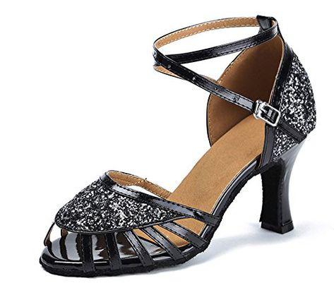 Fashion Dance Sandal Tango Waltz Ballroom Latin Salsa Heeled Dance Shoes 3 Color