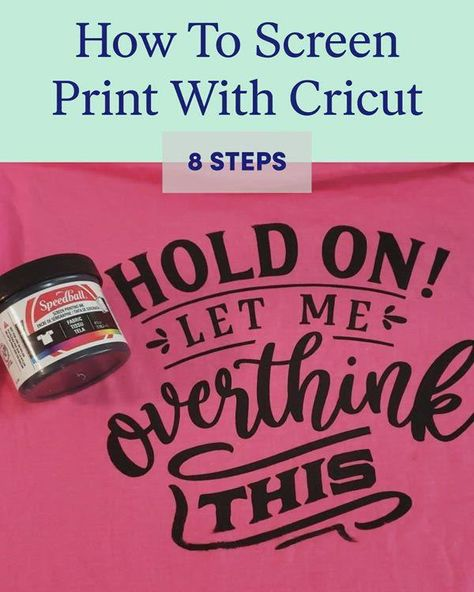 How To Screen Print With Cricut