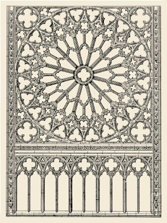 Rose windows became characteristic of Gothic architecture though it came into vogue during the Romanesque period.