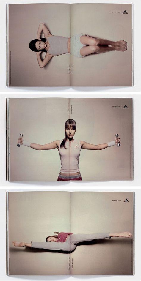 30 exemples de publicités créatives en double page de magazine !