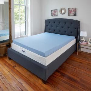 Sleep Options Classic 3 In Full Gel Memory Foam Mattress Topper 255003 4030 The Home Depot Gel Mattress Mattress Topper Reviews Mattress