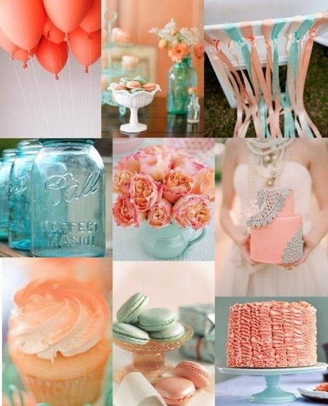 Wedding Inspiration Board | Seafoam and Cheery Coral