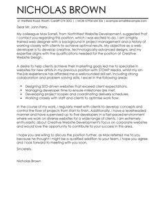 Cover Letter Template Web Developer | Cover letter template ...