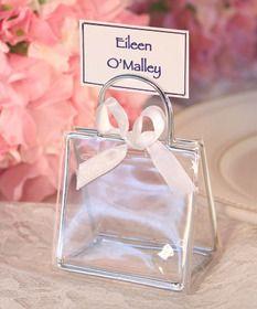 handbag place card holders wedding favor