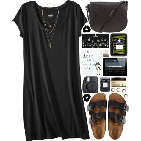 Birkenstock sandals / Alexander Wang studded purse / Topshop set ring / Topshop bead jewelry / Forever 21 scrunchie hair accessory perfect outfit if u ask me. Looks Style, Style Me, Trendy Style, Style Hair, Alexander Wang, Mode Ab 50, Look Fashion, Womens Fashion, Dress Fashion