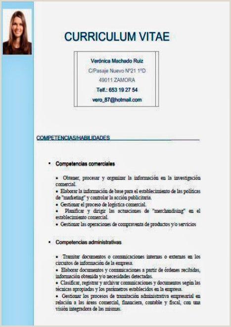 Formato De Curriculum Vitae Para Rellenar Simple Curriculum