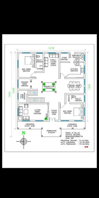 1000 Sq Ft House Plans 3 Bedroom Kerala Style House Plan I Kerala House Design Square House Plans Free House Plans