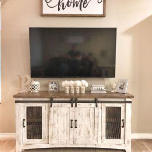 100 Best Farmhouse Living Room Tv Stand Design Ideas 13 - homydezign.com