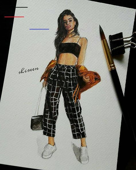 "∞ ♡ ѷ auf Instagram: ""#art #watercolor_gallery #fashionblogger #blogger #illustrationartists #illustrator #fashionsketch #sketchbook # sketch_daily…"" - #Blogger #fashionblogger #Gallery #illustrationartists #illustrator #instagram #watercolor - #new<br>"