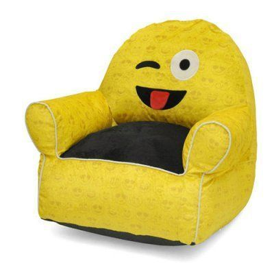 Emoji Pals Soft Faux Bean Bag Chair Wink Tongue Out C755ee3034814fa0bd703548 Emoji Pals Soft Faux Bean Bag Chair In 2020 Bean Bag Chair Kids Sofa Bean Bag Sofa