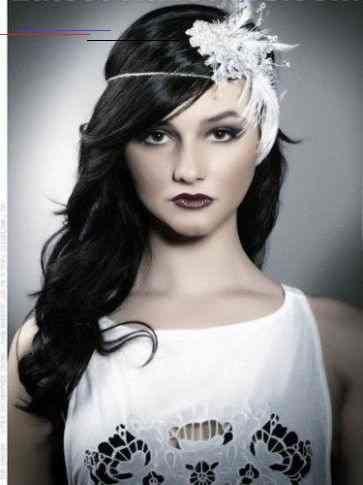 Gatsby Hairstyle Female Gatsbyhairstyles In 2020 Gatsby Hair Vintage Wedding Hair Simple Prom Hair