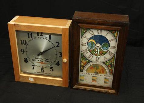 Two wall clocks incl