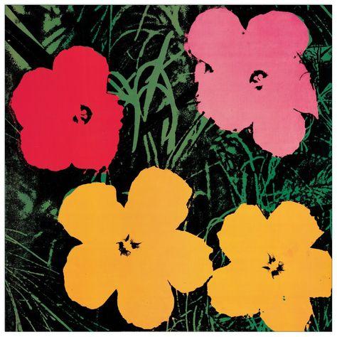 Fiori Warhol.Pin Di Artopweb Su Andy Warhol Andy Warhol Dipingere Fiori E Warhol