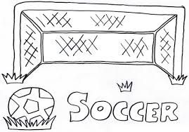 Image Result For Soccer Net Coloring Page With Images Coloring