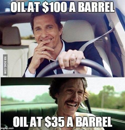 It can be said that sometimes dark humor can make tough situations and trying times a little easier to swallow. Will a bit of gallows humor make the current shaky oil and gas climate in Houston a bit more palatable?