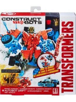Transformers Age of Extinction Construct-Bots Dinobot Warriors Autobot Drift New