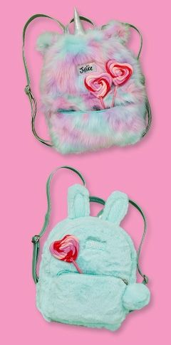 70f960fd5315 Unicorn Faux Fur Mini Backpack | Justice | Backpacks in 2019 ...