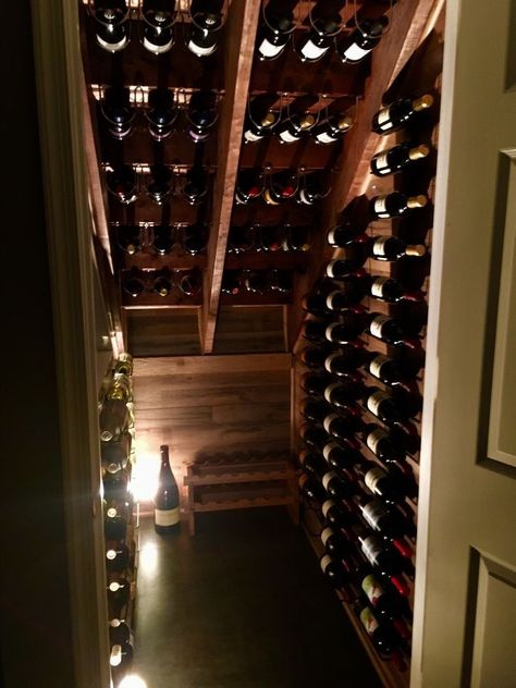 Chilled or passive wine storage? A passive wine storage environment can .Chilled or passive wine storage? A passive wine storage environment may include wine walls, rooms, or other storage areas that use ambient temperature instead Under Stairs Wine Cellar, Wine Cellar Basement, Closet Under Stairs, Under Stairs Cupboard, Open Stairs, Under Basement Stairs, Bar Under Stairs, Home Wine Cellars, Wine Storage