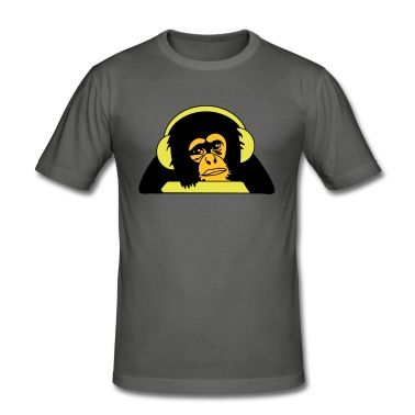 Affe Mit Kopfhorern T Shirt Shirts Bekleidung