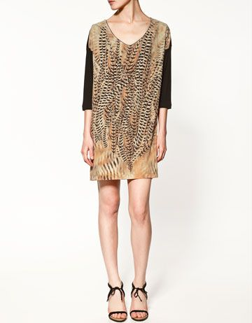 379827ede5 feather print dress